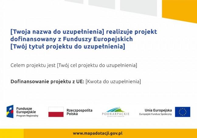 Wzór plakatu informacyjnego - 2018 r.